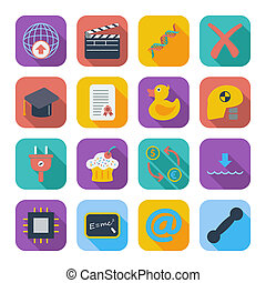 Color flat icons 7