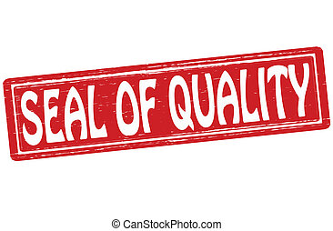 Seal of quality - Stamp with text seal of quality inside,...