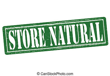 Store natural - Stamp with text store natural inside,vector...