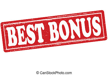 Best bonus - Stamp with text best bonus inside,vector...