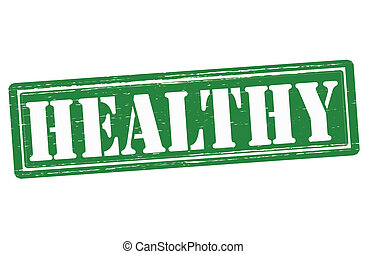 Healthy - Stamp with word healthy inside,vector illustration