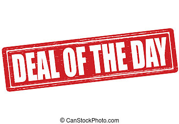 Deal of the day - Stamp with text deal of the day inside,...