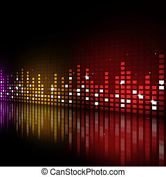 Music Party Background - multicolor music equlizer...