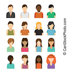 People design over white background, vector illustration
