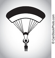 Paragliding design over gray background, vector illustration
