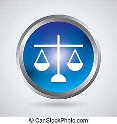 Law design over gray background, vector illustration