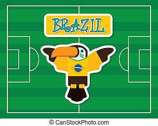 Brazil design over green background, vector illustration