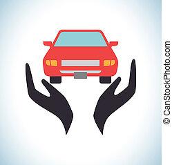 Insurances design over white background, vector illustration...
