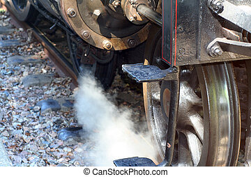 Steamer - detail photo of an old steam train
