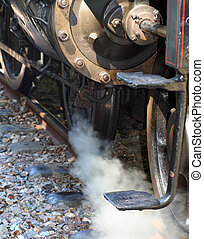 Steamer - detail photo of an old steam train