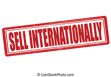 Sell Internationally - Stamp with text sell Internationally...