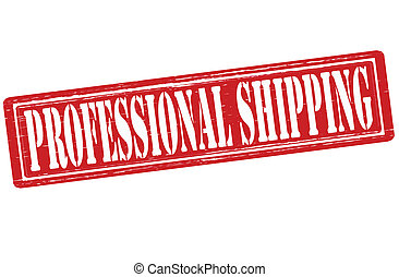 Professional shipping - Stamp with text professional...