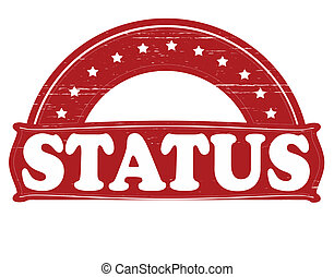 Status - Stamp with word status inside, vector illustration