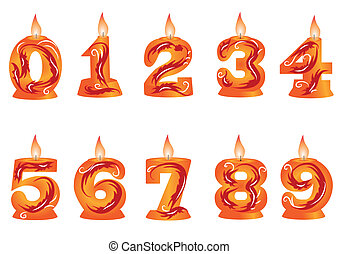 birthday candle as numbers