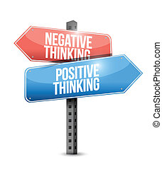 positive and negative thinking street