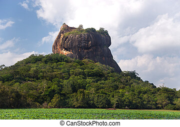 Rock of Sigiriya, the most visited historic site in Sri...