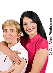 Mother and daughter bonding - Portrait of mother and her...