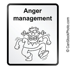 Anger Management Information Sign - Monochrome anger...