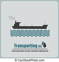 icon oil barge design, drilling, element, energy