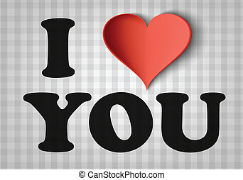 I love you sign with heart background