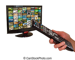 digital television - Digital television and remote control...