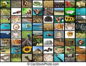 TV mosaic - Tv screen showing pictures, all used images are...