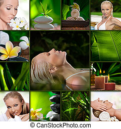 spa mix - Spa theme photo collage composed of different...