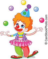 Juggling Clown  - Cute funny juggling clown