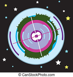 Earth Core - earth core vector illustration clip-art eps