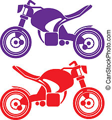 MotoBike - motobike vector illustration clip-art eps