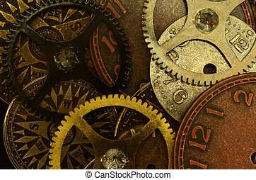 watch parts - agglomeration of various watch parts