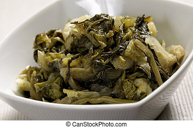 Cooked escarole - A genuine soup of escarole