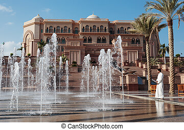 Emirates Palace in Abu Dhabi - ABU DHABI, UAE - NOVEMBER 5:...