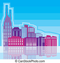 City scape - city scape vector illustration clip-art eps