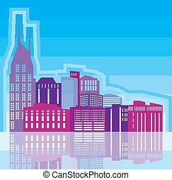 City scape - city scape vector illustration clip-art eps