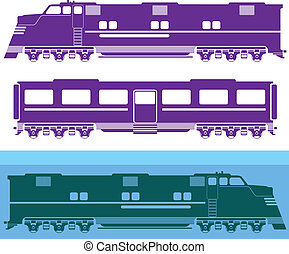 Locomotive vector - locomotive vector illustration clip-art...