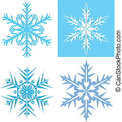 Snow Flakes  - snow flakes vector illustration clip-art eps