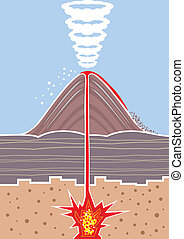 volcano eps file illustration clip-art vector