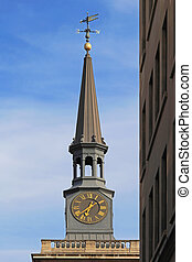 Church spire - St James Piccadilly Church clock and spire...