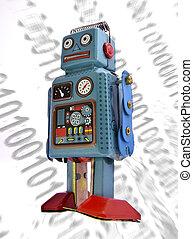 robot - retro robot concept
