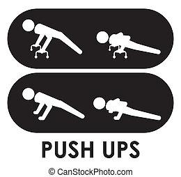 Fitness design over white background, vector illustration