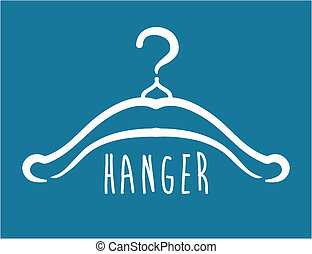 Hanger design over blue background, vector illustration