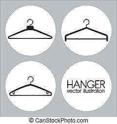 Hanger design over gray background, vector illustration