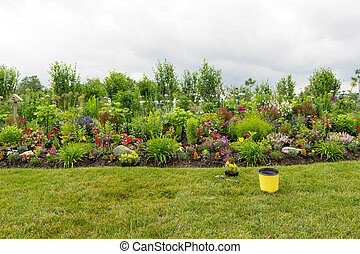 Planting a beautiful formal flower garden