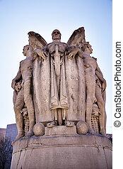 Winged War God George Gordon Memorial Civil War Statue Pennsylva