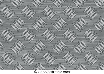 Seamless steel diamond plate vector surface, closeup