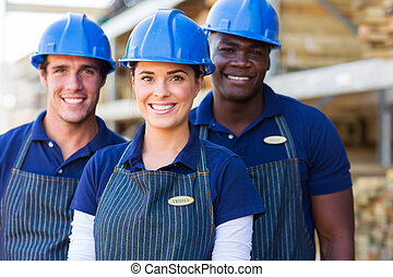 group of DIY store workers