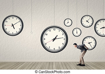 Put back the clock to the right position, concept of time...