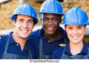 hardware, Tienda, trabajadores