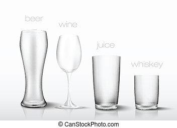 set of glasses for drinks